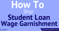 how to stop student loan wage garnishment